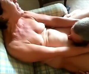 Cuckolding Granny Getting Her Pussy Eaten Out In Front Of H