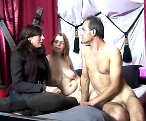 Plumper sucks dick and gets fucked in her shaved pussy