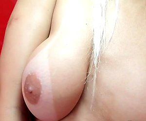 Big booty tanlined tgirl jerks cock