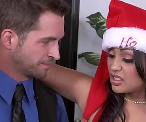 New Year's party with horny Santa's assistant Priya Rai who loves fucking