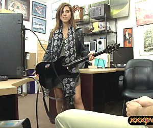 Cute rockista banged by nasty pawn guy at the pawnshop