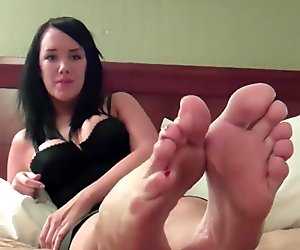 Jerk your cock to Mandy's sexy feet JOI