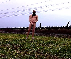 Train flashing while completely naked