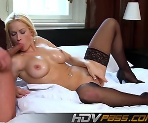 Big Tits Blonde Babe Stacy Silver Threesome Playing