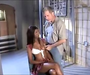 Ebony Mama Fucked Hard In Prison