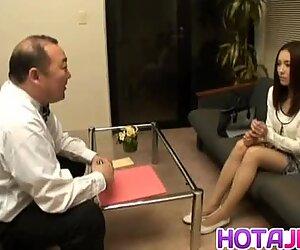 Nozomi Mashiro Asian doll gets pussy spread and masturb