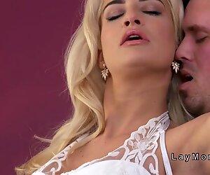Busty blonde Milf bangs in various positions