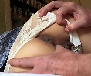 Thumbing her cunt before dicking it beautifully