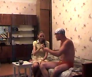 Two men testing the body of sexy amateur girlfriend