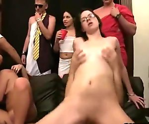 College toga party transforms into a full on orgy