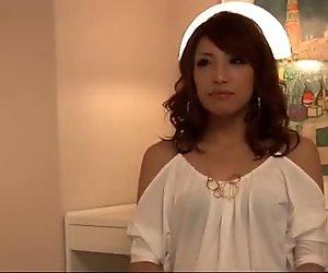 Lovely wife, Aya Sakuraba, takes good care of two cocks