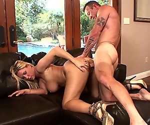 Busty Blonde Housewife Devon Lee Pierced Pussy