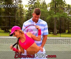 Blow me POV - 3 Hot Teens Taking on Slurpy Cocks
