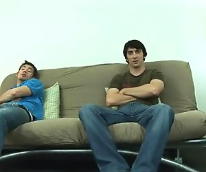 Braden and Jeremy having intercourse on a lounge part4
