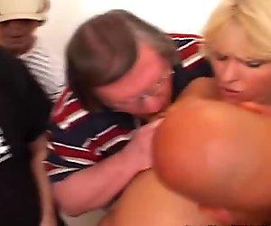 Jackie 3 Hole Creampie Bukkake Bang with Dirty D