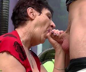 74 years elder grannie banged by her toyboy