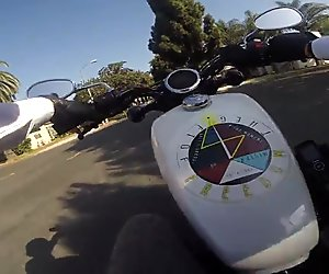 Don Stone Lifestyle Video Riding Motorcycle In Suit & Tie